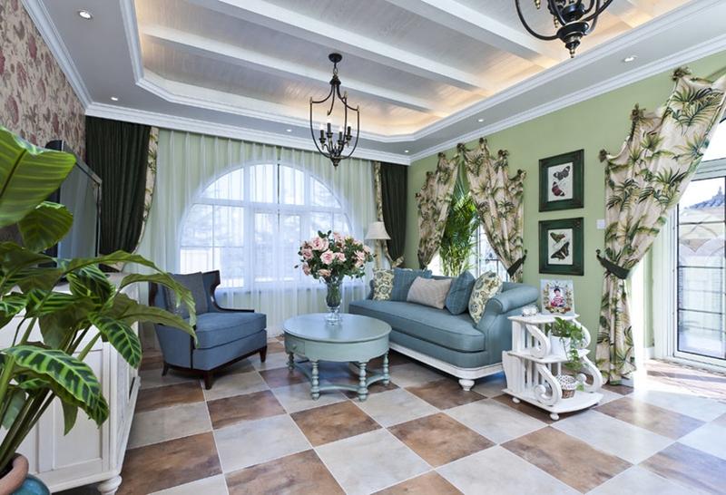 248平米五居室精美装修 地中海半包25万!-黄龙溪谷装修