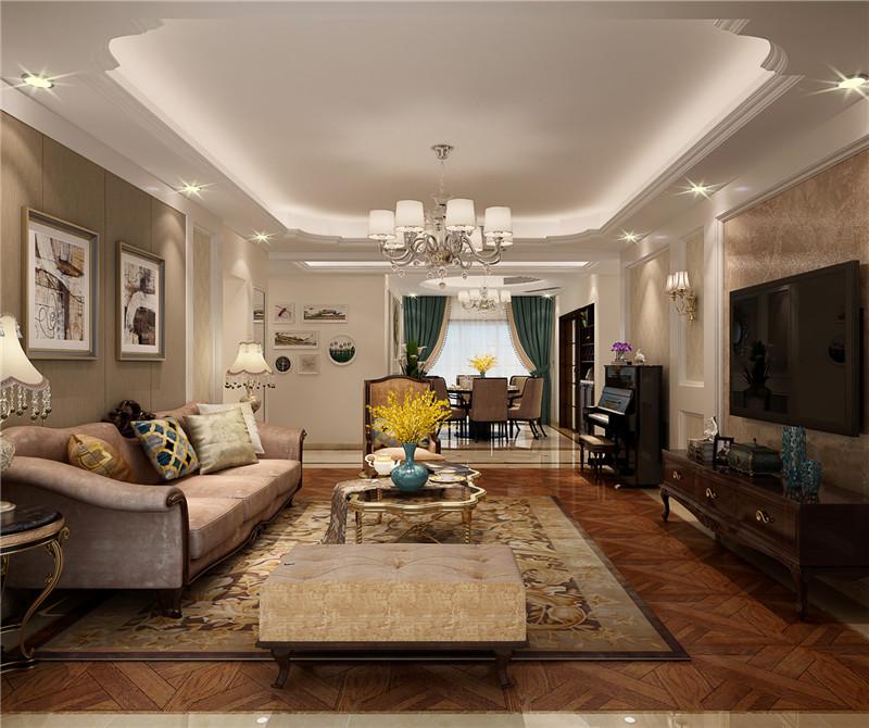 135平米三居室如何装修 欧美风情全包27万!-招商小石城梧桐园装修