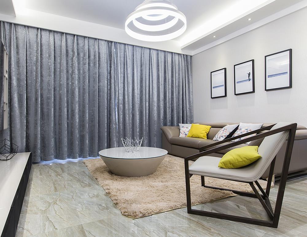 105平米三居室热门案例 现代简约半包9万!-首创旭辉城装修