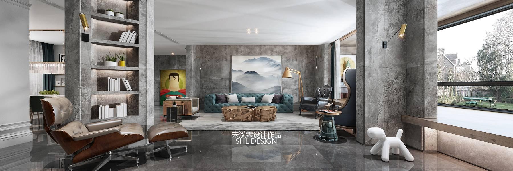 在案例中,设计师以陈设艺术品及金属线条材质来营造大气、自然、轻奢的装饰美学氛围。墙面、地面、家具陈设等均以简洁的造型、精细的工艺为其特征,强调品质感和细节处理。