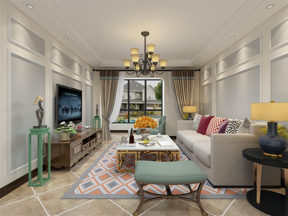 88平米二居室如何装修 欧美风情半包3万!-东方文化广场装修
