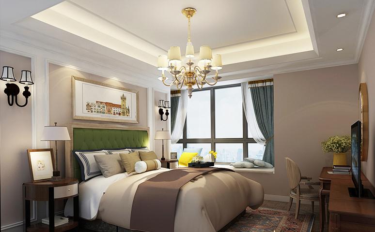 110平米三居室装修案例 欧美风情半包11万!-恒宇·海岸华府装修