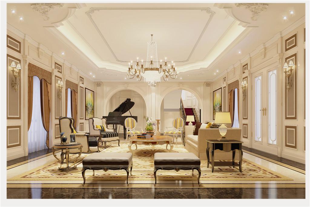 600平米别墅装修案例 西式古典半包76万!-保利城装修