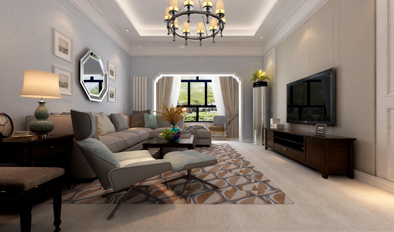 137平米三居室如何装修 欧美风情全包20万!-建邦原香溪谷装修
