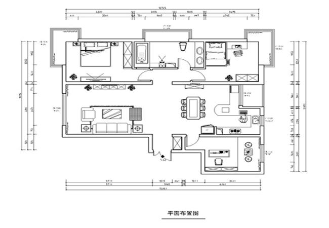 中央悦城154平米平面布置图