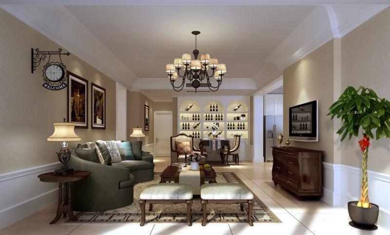 116平米三居室如何装修 现代美式全包10万!-融创香璟台项目装修