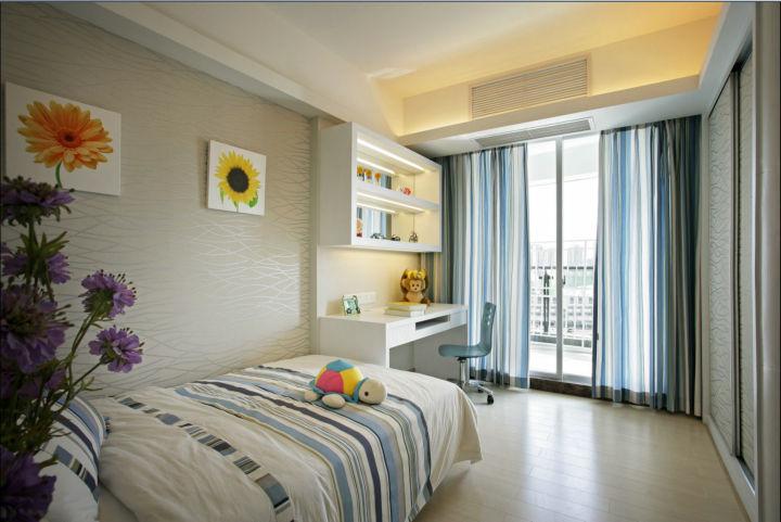 110平米三居室装修案例 现代简约全包10万!-首开龙湖天璞装修