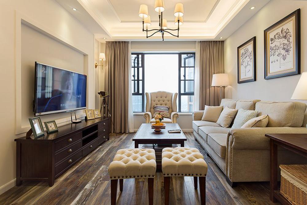 115平米三居室如何装修 美式全包18万!-阳光城愉景湾装修