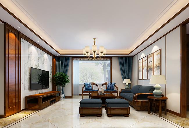 160平米四居室装修秘籍 中式古典半包8万!-君泰·中央公园装修