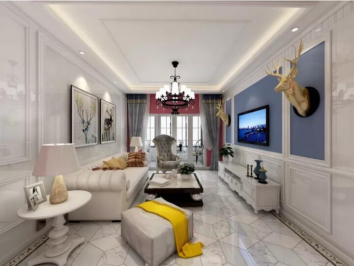 125平米四居室热门案例 简欧全包10万!-荣和悦澜山装修