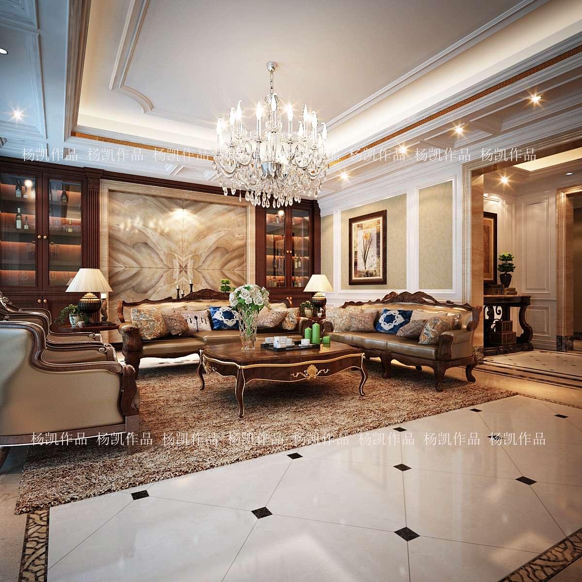 欧式的居室有的不只是豪华大气,更多的是意境和浪漫。通过完美的曲线,精益求精的细节处理,带给家人不尽的舒适触感,实际上和谐是欧式风格的最高境界
