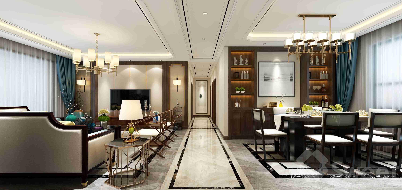 将风格定位为即具有时尚现代感又具有传统中式元素存在的新中式风格。
