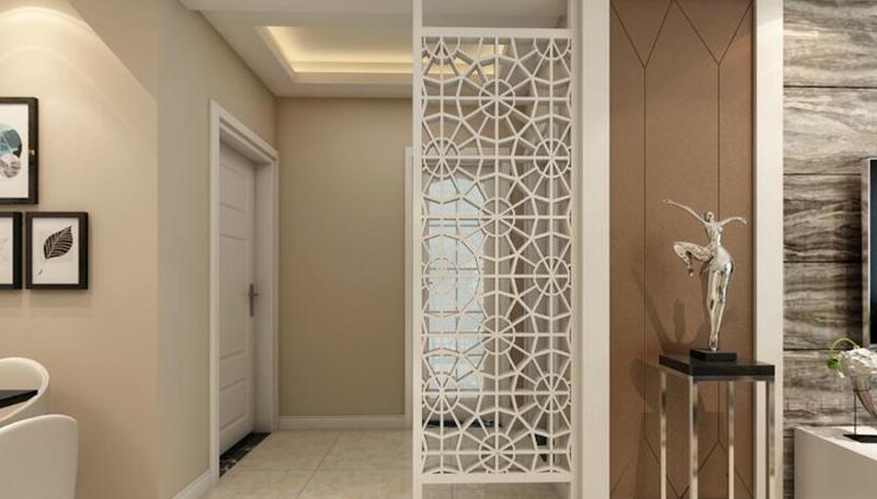 玄关设计效果图,既起到装饰作用,又可以划分功能区间