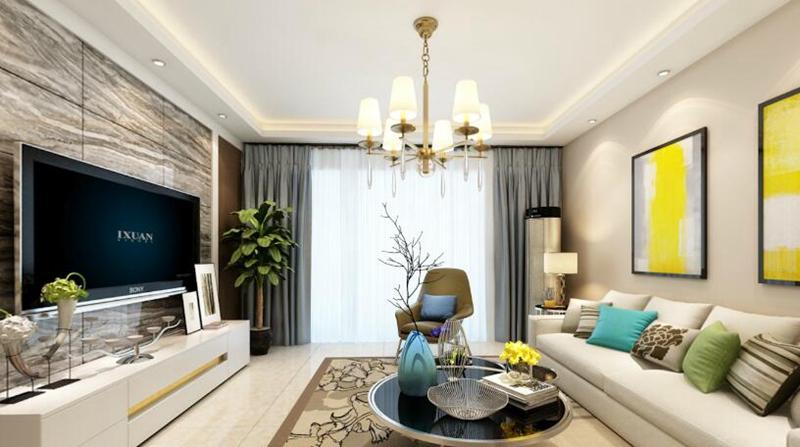客厅设计效果图,清爽简洁
