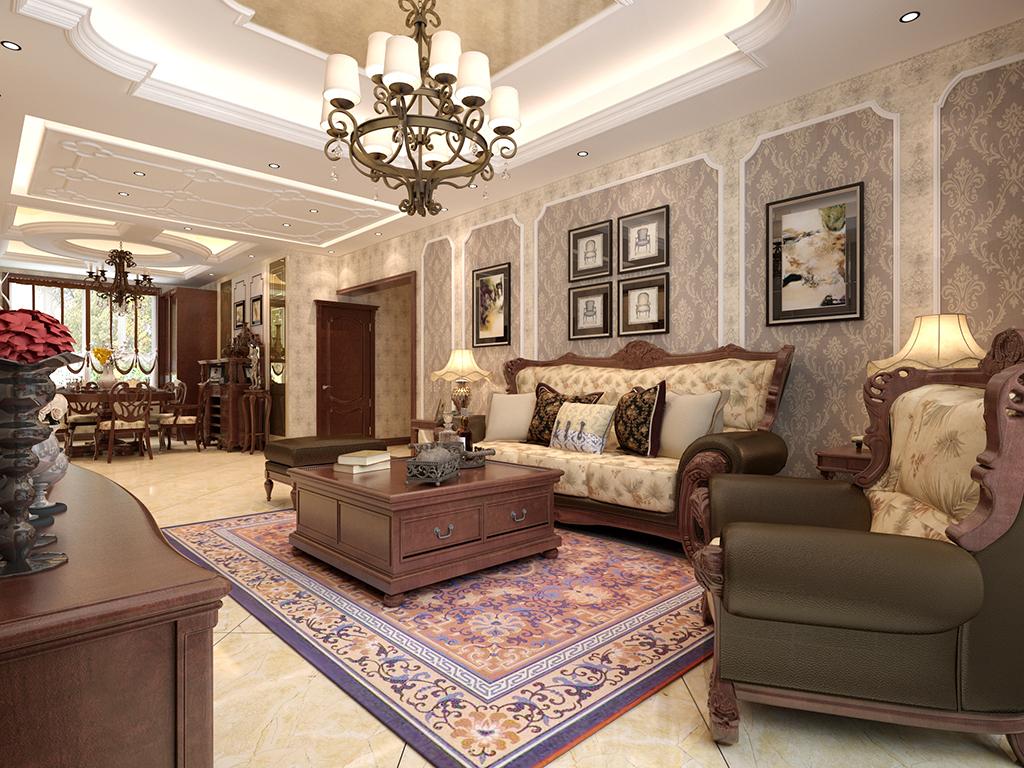 美式风格-140平米三居室