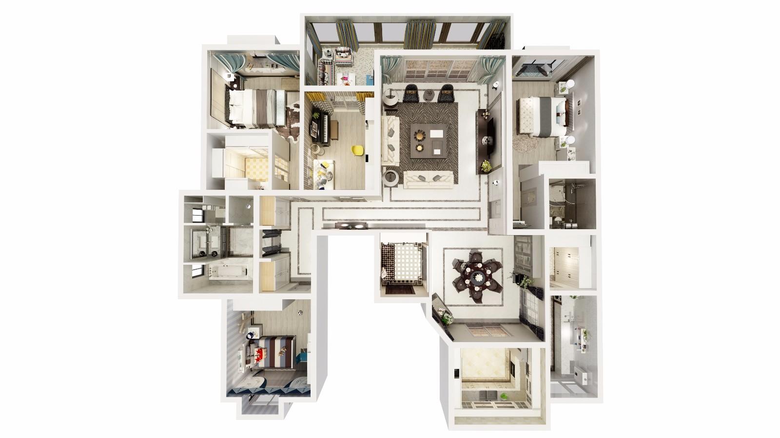 设计说明(预约:182-9186-6197)简欧风格,即有欧式设计风格的一些元素,又充分利用了现代简约设计的某些优势。简欧风格的室内设计打破以往欧式深沉的色彩,大量使用的白色调,把欧式风格设计融入现代设计中浑然一体家居风格。 白色调时尚温馨不突兀,客厅的白色墙面发出的是淡雅清新的现代简欧味道,时尚的米白色调沙发与电视背景墙的呼应,让整个客厅营造出时尚、高贵、轻松、愉悦的视觉感空间,营造出一个朴实之中的时尚简欧家居设计。【温馨提示】: 请重点参考本案效果图与设计,喜欢可预约,请尽量保存图片,以便和设计师对喜欢的风格。今朝巧装家高品质互联网家装,提供装修前6项免费服务:1、免费量房。2、免费报价。