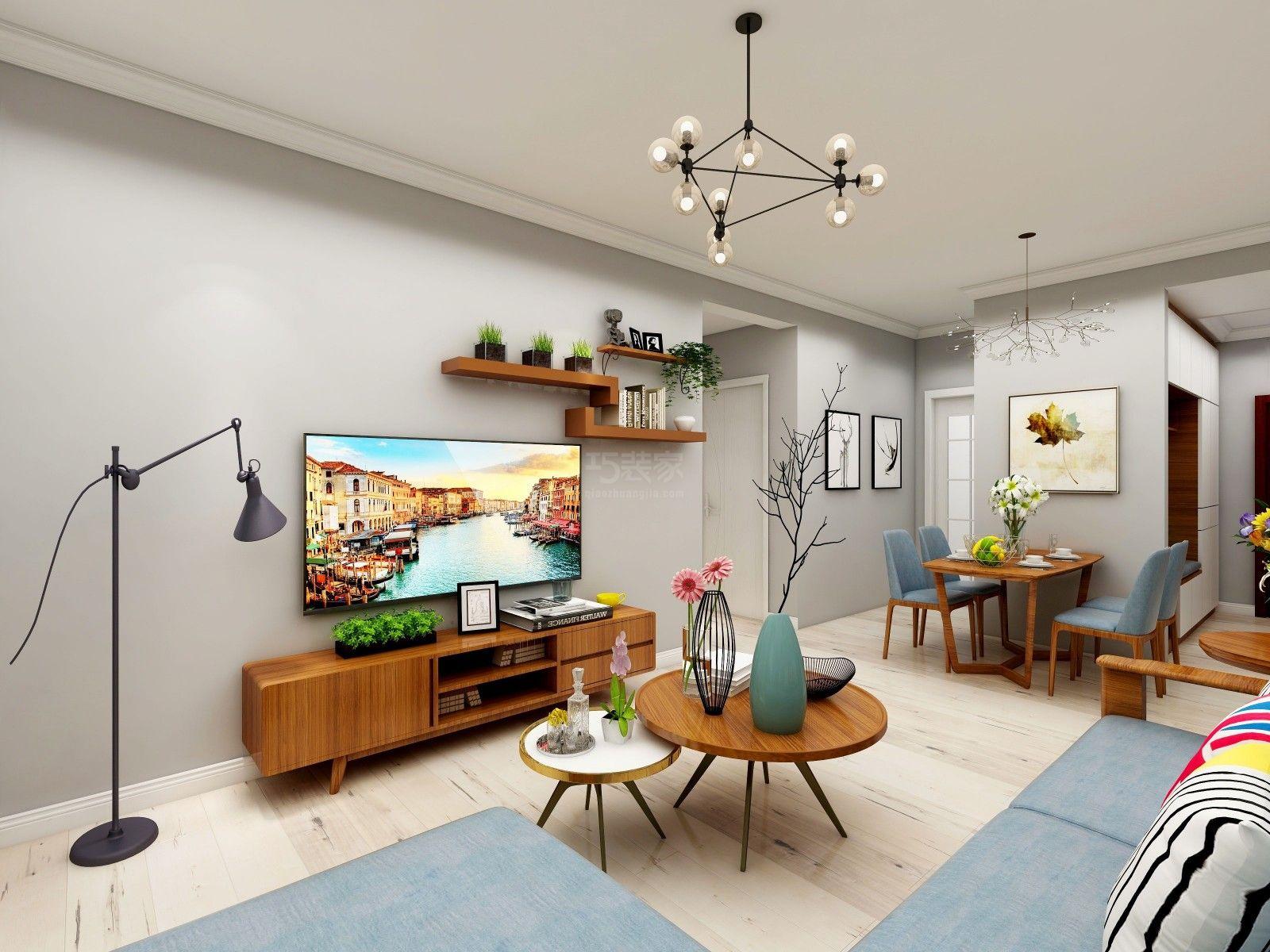 设计说明(预约:182-9186-6197)90后的婚房,要求简洁,整齐,需要收纳空间,北欧是最近年轻人的最爱。华洲城离我们公司很近,是我们的重点开发小区,可预约装修设计。