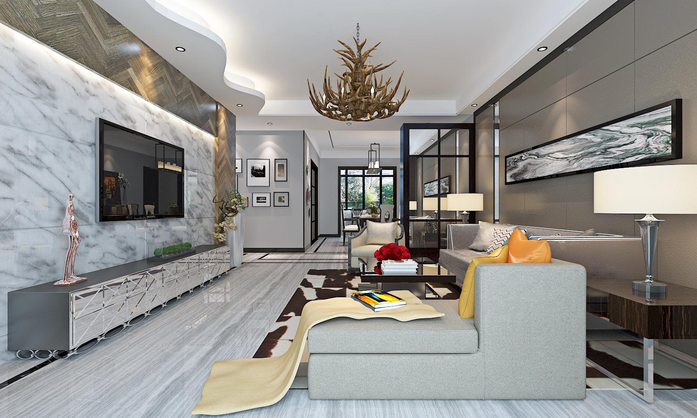 简欧风格三居室装修效果图115平米13万简欧风格三居室图片