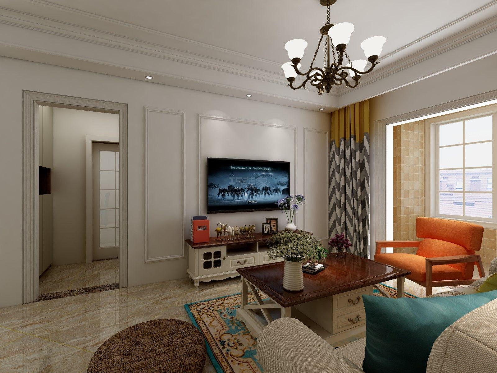设计说明——(预约:182-9186-6197)根据客户的喜好,本案定义为简美风格,家具以舒适为主,结合户型比较紧凑的特点,一切从简,局部用了石膏线,来突出空间的层次感,达到了业主简洁明快,温馨舒适的需求。