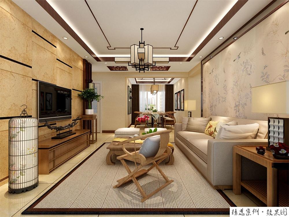 二居室的房子多大面积好?9万元的中式风格设计说明!-碧桂园装修