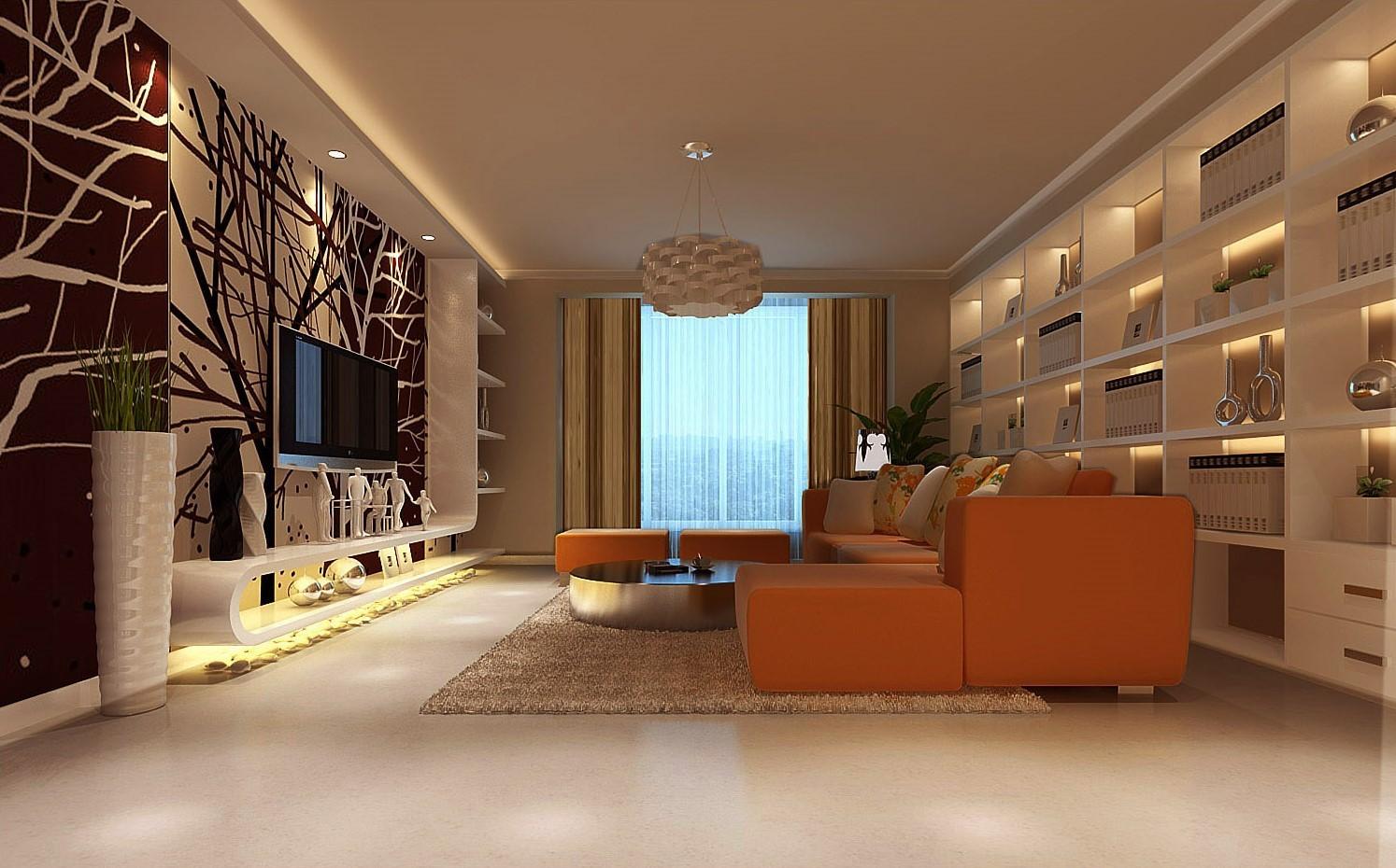 现代简约风格三居室装修案例,108平米的房子装修多少钱?-新力铂园装修