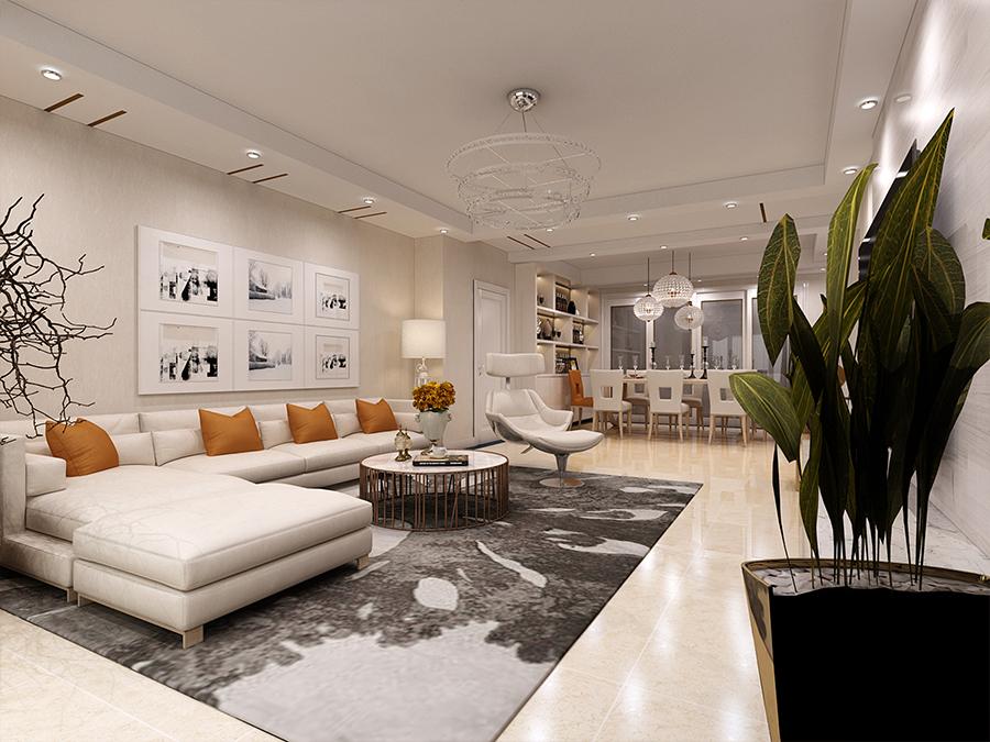 97平米的房子能装修成什么效果?现代简约风格三居室装修案例!-华润置地悦府装修