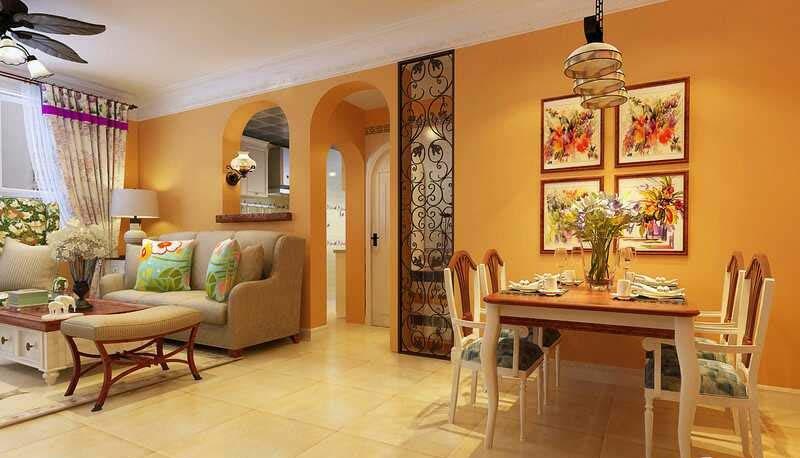 115平米田园风格三居室,预算5万,点击看效果图!-美的国宾府项目装修