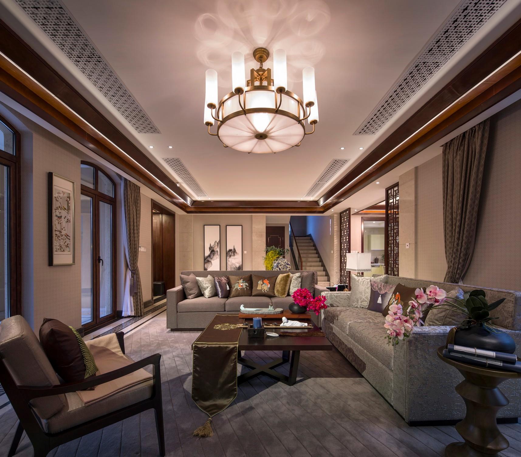 228平米的房子能装修成什么效果?中式风格六居室装修案例!-龙湖·双珑原著装修