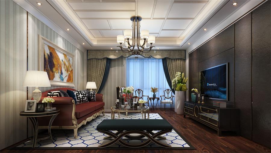 142.09平米三居室设计说明,12万元装修的其他风格有什么效果?-联盟新城七期装修
