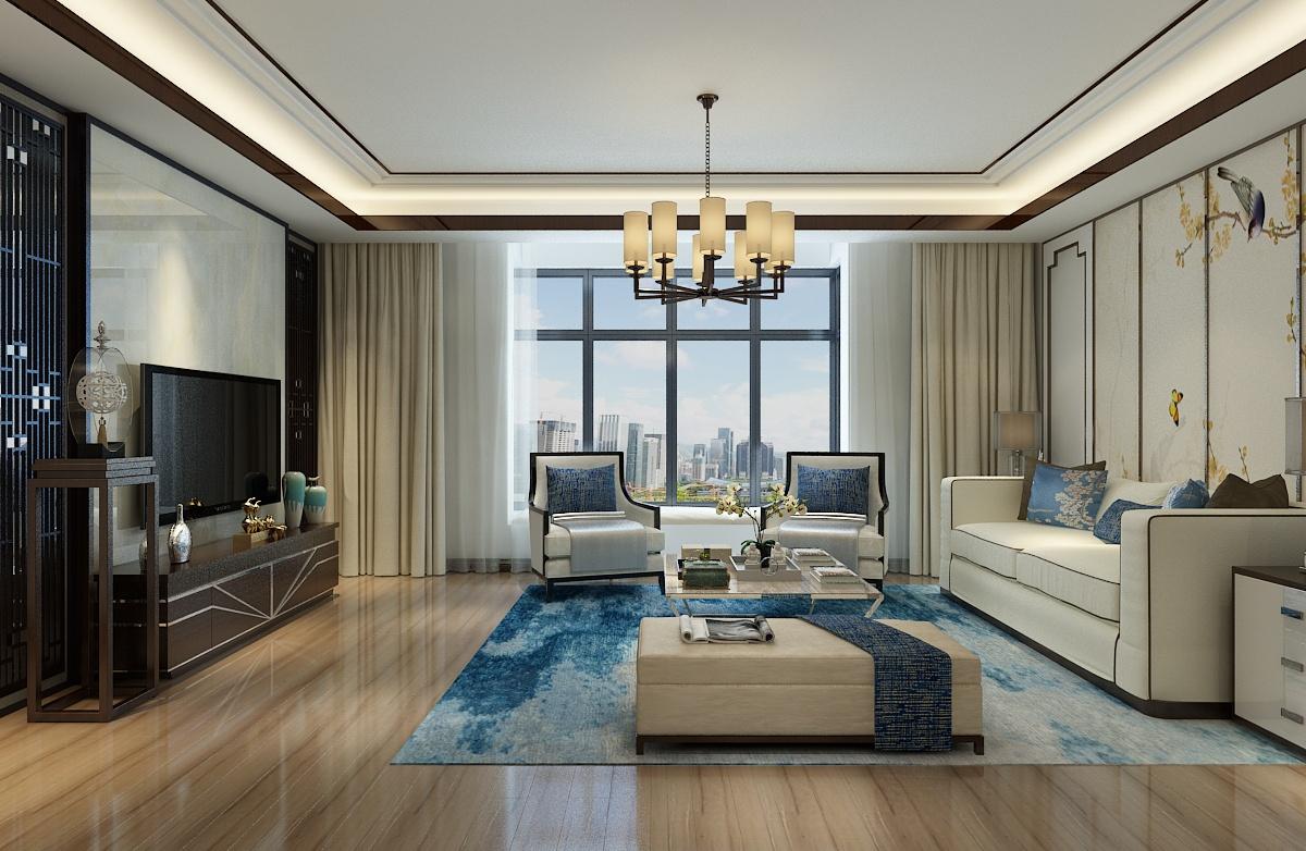 十三所宿舍147客厅平吊顶后现代效果图,优雅的飘窗