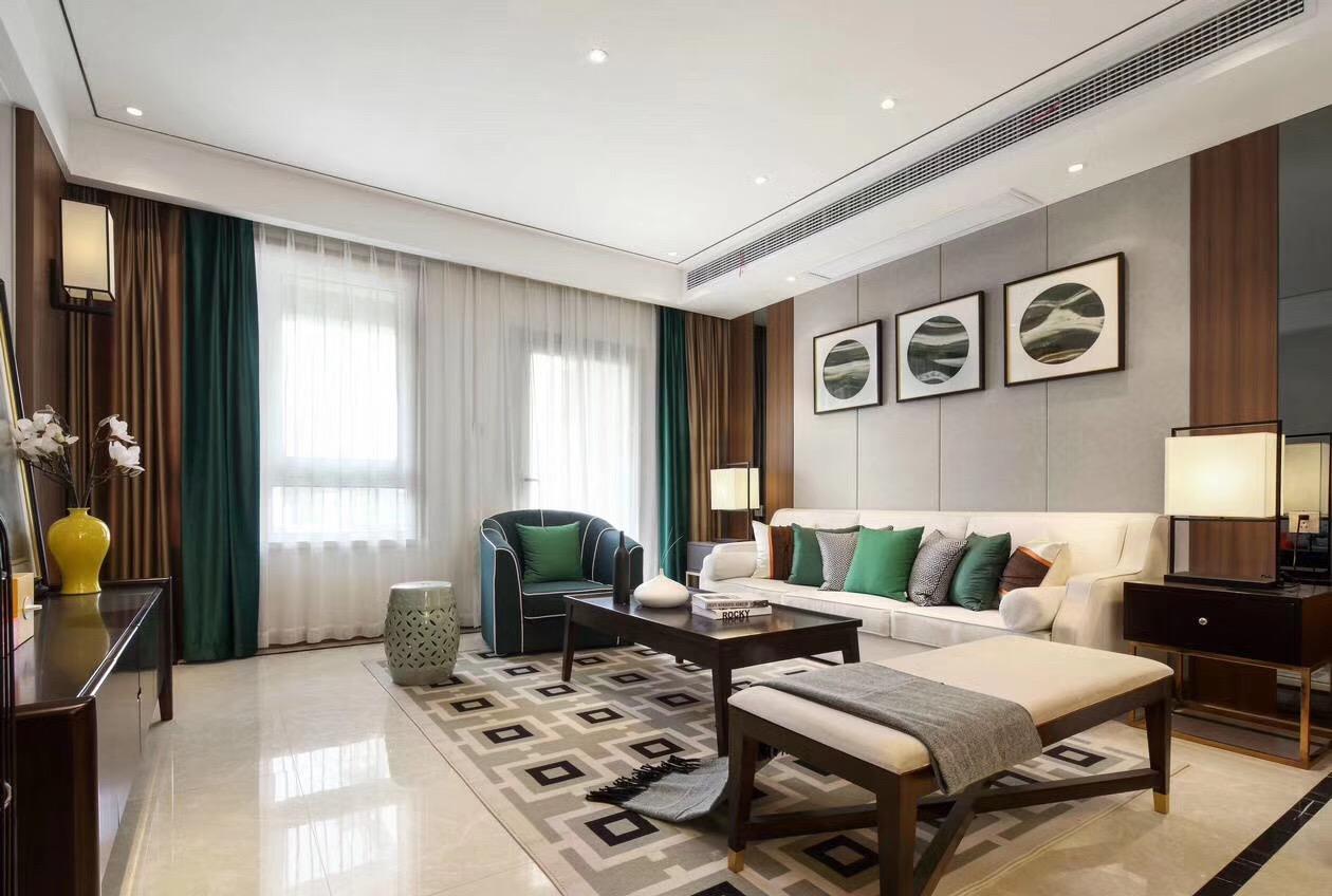 三居室的房子多大面积好?15万元的中式风格设计说明!-国泰九龙湾装修
