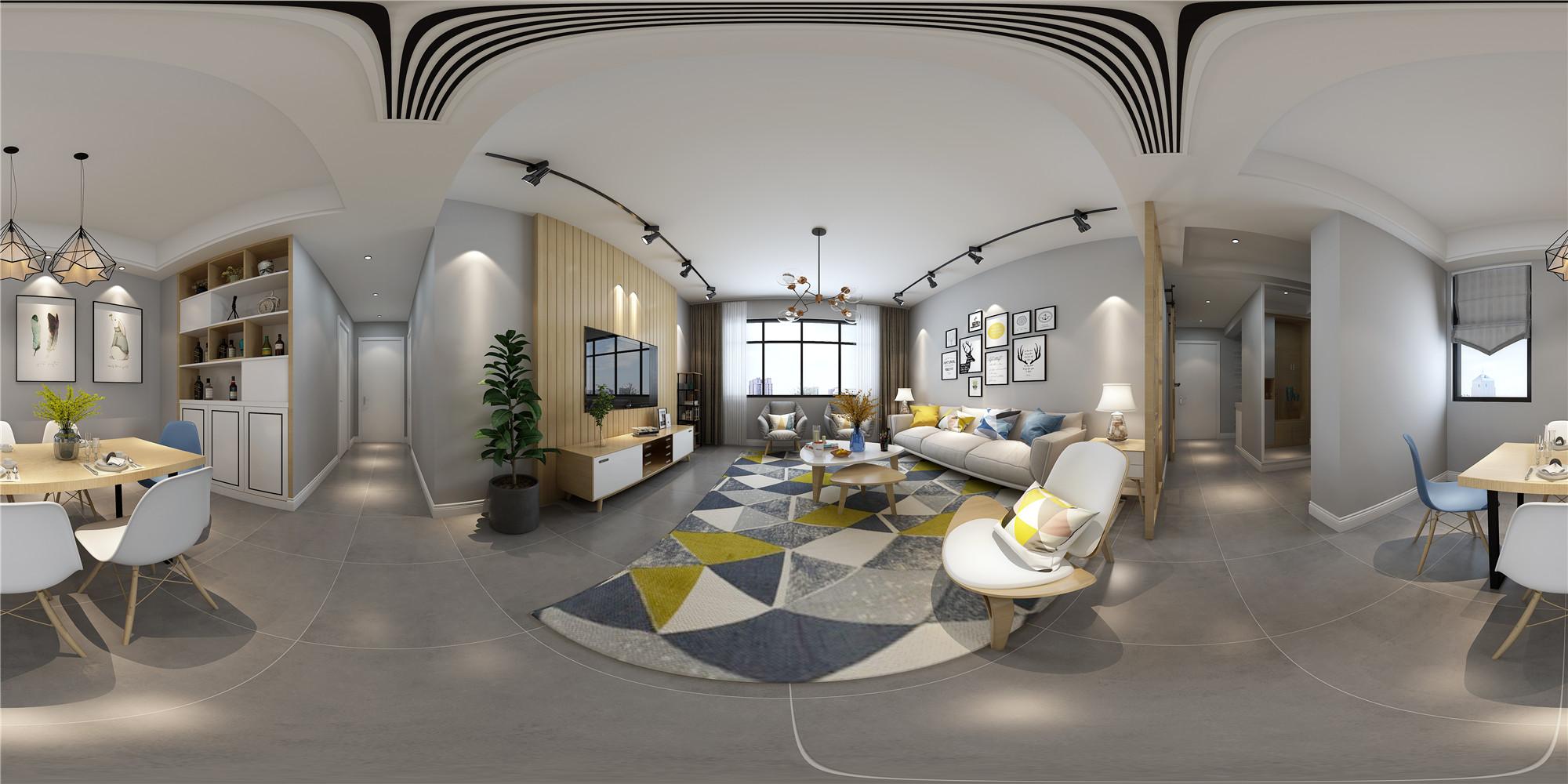 141平米的四居室装修半包只花了8万,现代风格让人眼前一亮!-明园九龙湾装修
