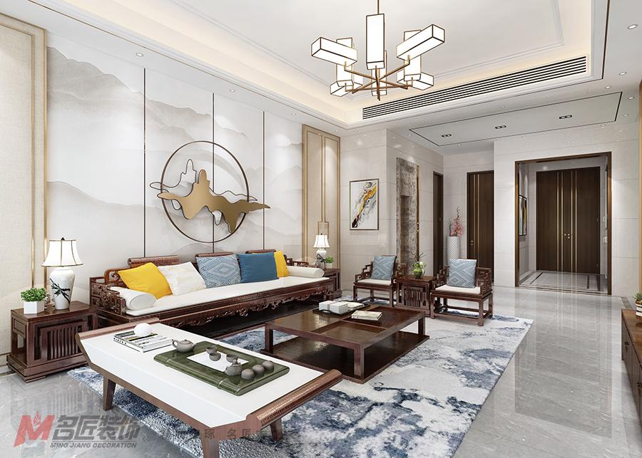 540平米别墅设计说明,90万元装修的中式风格有什么效果?-远洋城鎏金山别墅区装修