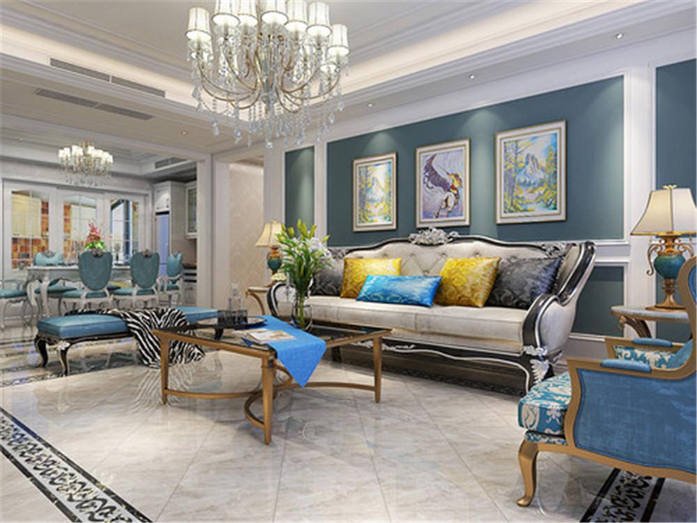 120平米三居室精美装修 古典半包7万!-保利香颂装修