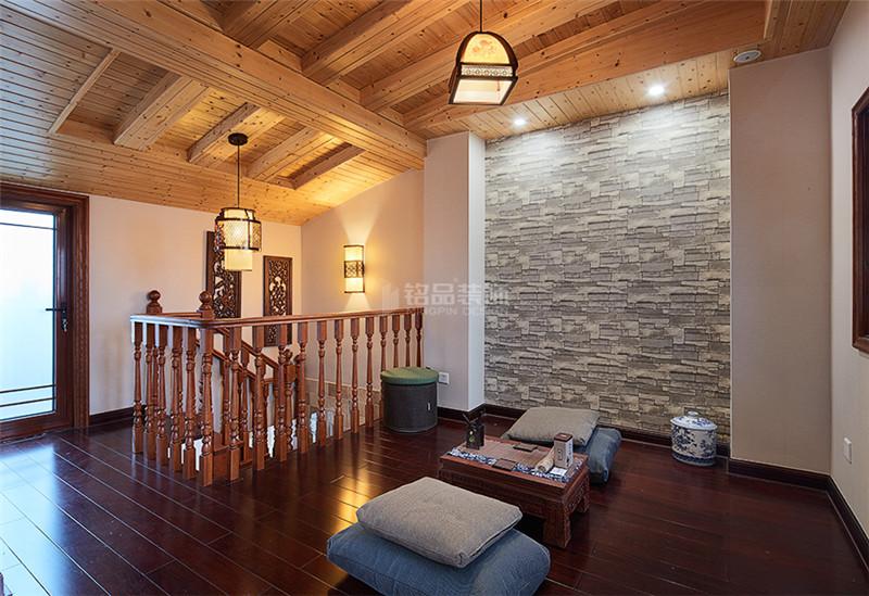 花22万改造220平四居室旧房,中式风格太漂亮,邻居以为走错门了!-融创望海潮装修