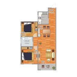 93.91平米二居室的简约风格案例,半包只花4万!-海都嘉园装修