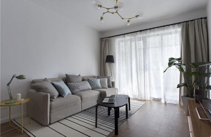 100平米欧式风格二居室,预算7万,点击看效果图!-广安云棠装修
