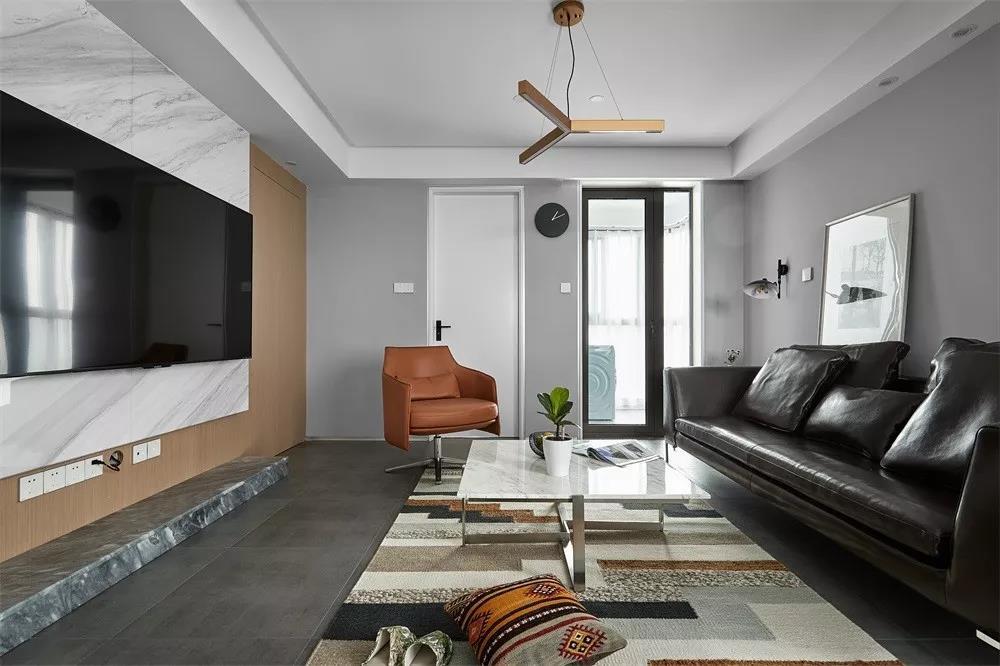面积130平米的房子好不好?现代风格装修案例!-绿地汉口中心装修
