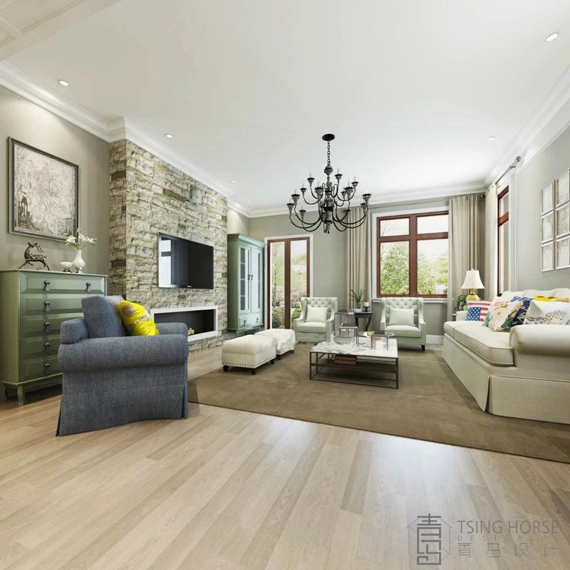 太不敢相信了200平四居室,半包花了19万,还是美式风格!-白鹿溪谷装修