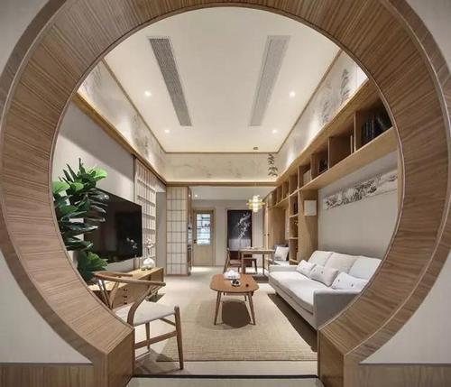 设计理念:业主去了趟日本非要把朋友装成日式风,朴素中带着古典.怎样创建背景圈房子墙图片