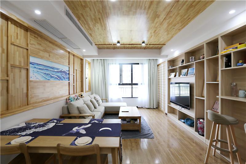 全包花14万元装修这套116平米的三居室,日式风格,给大家晒晒!