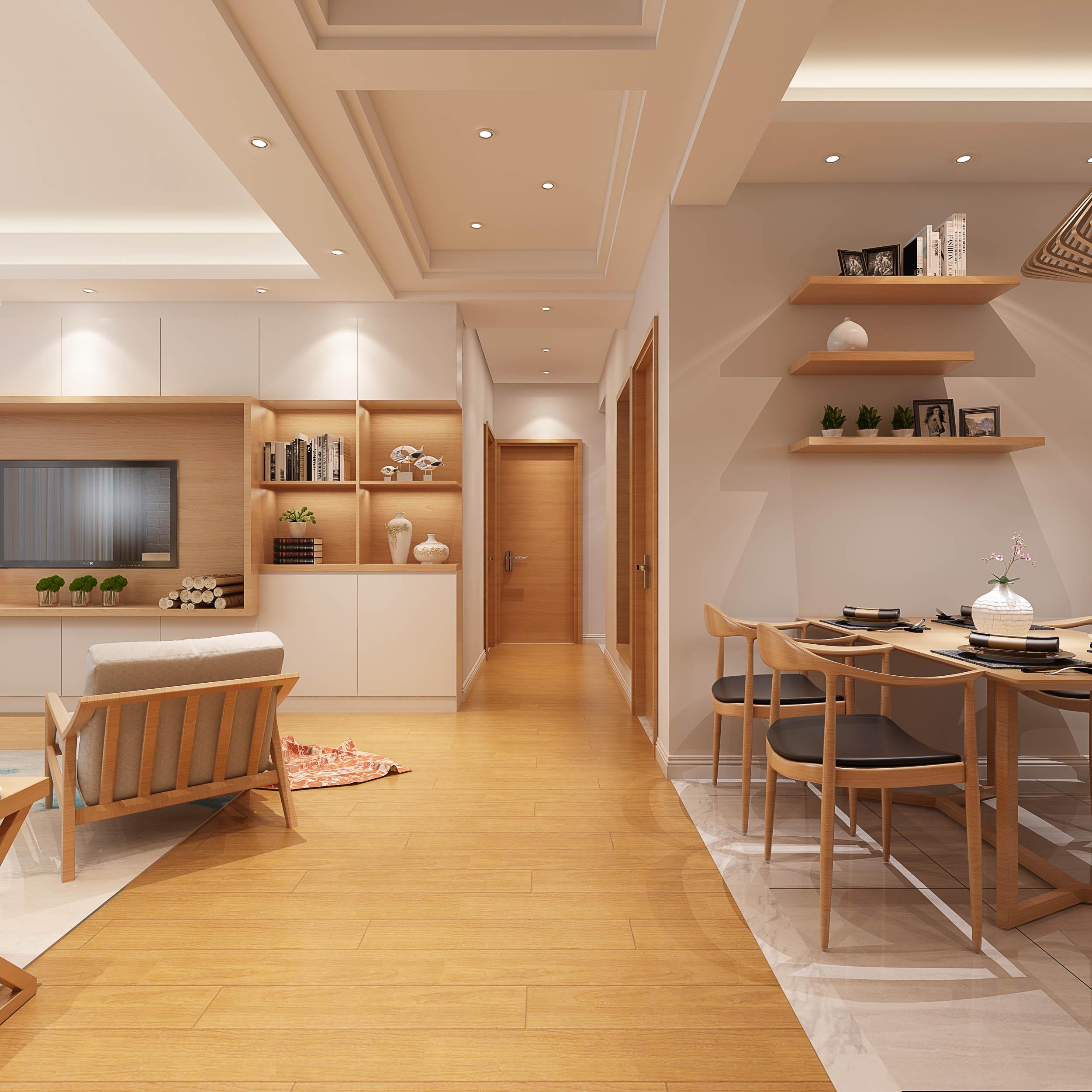 简洁朴素 日式风格 三居室