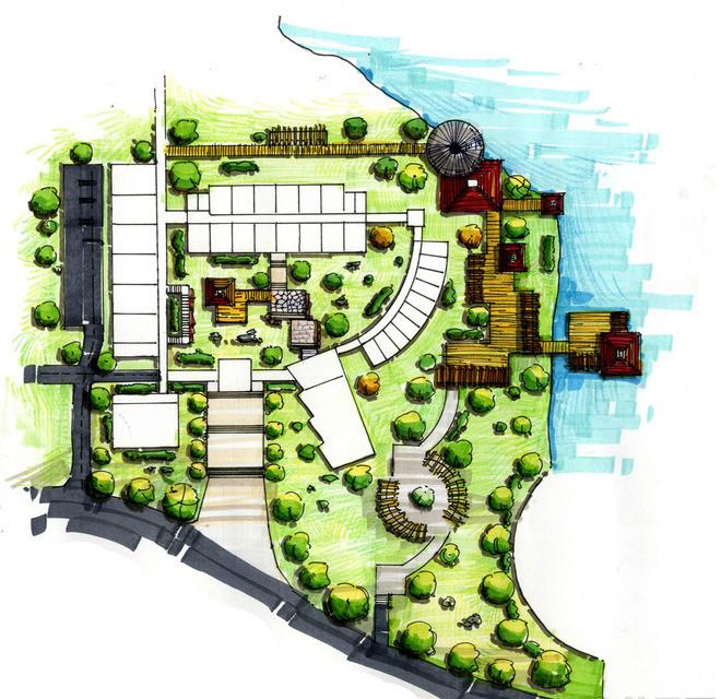 景观手绘设计平面图图片