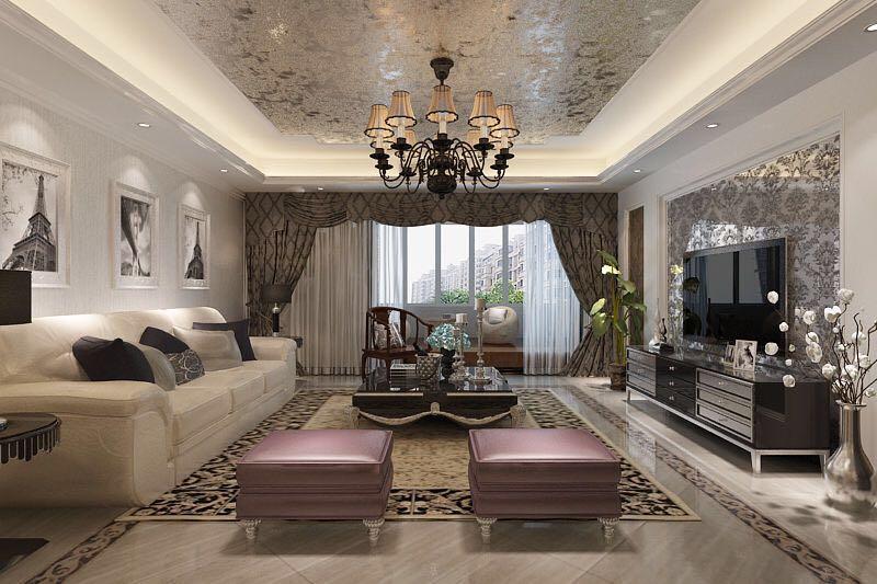 美瑜兰庭新古典风格四居室洋房装修效果图