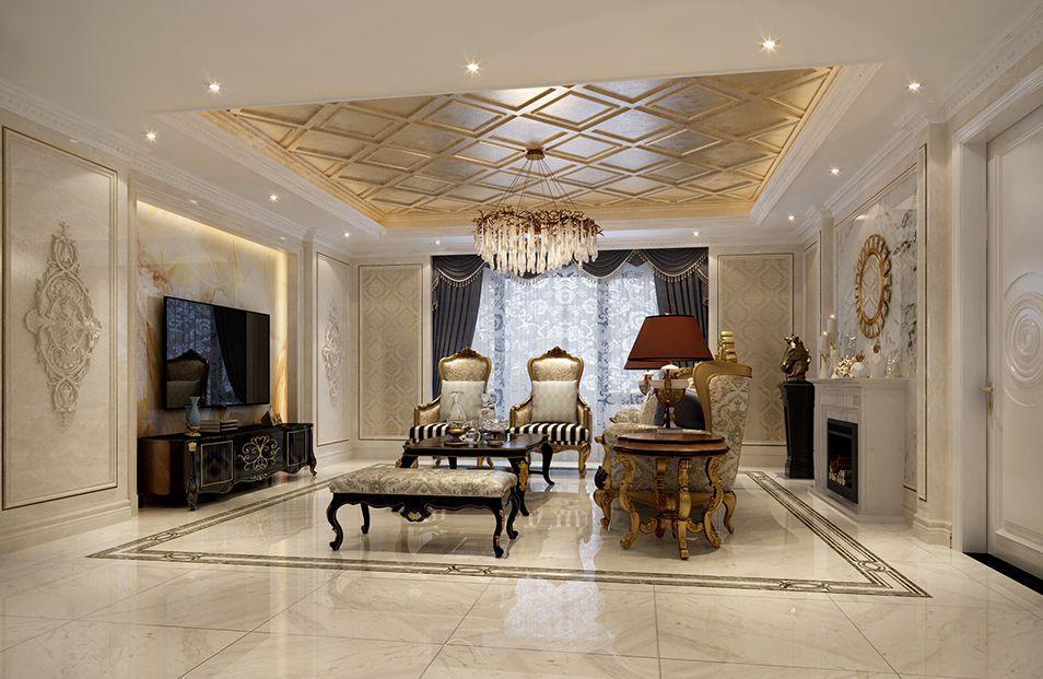 低奢新古典风格四居室装修效果图