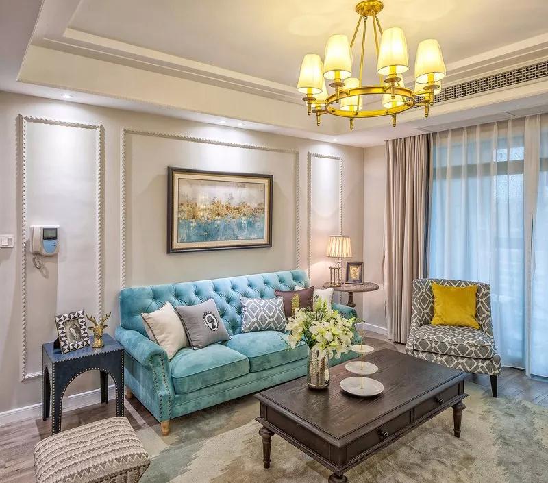 115㎡典雅美式三居室,进门第一眼就爱这个家